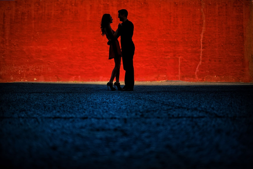 los angeles engagement portrait red.jpg