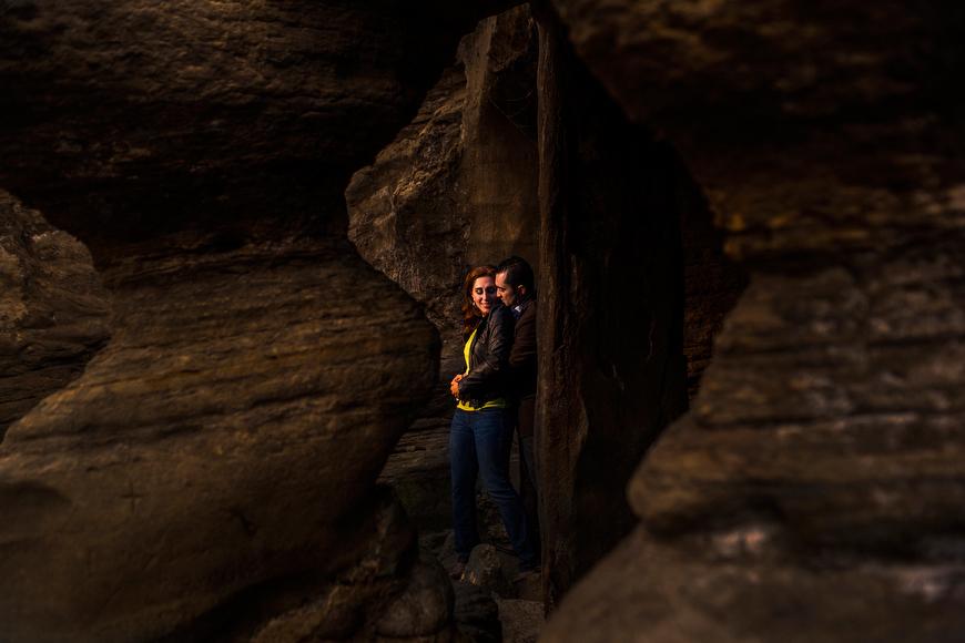 san diego beach cave portrait