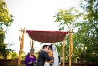 japanese garden ceremony photo, balboa park wedding photographer, japanese garden wedding
